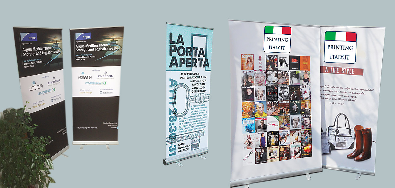 roll up,rollup espositore,Stampa Rollup Banner Espositore Roma EUR, rollup banner roma eur,stampa rollup avvolgibile,stampa avvolgibile
